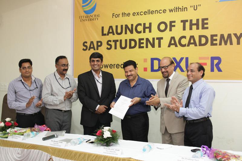Uttaranchal University and SAP tie-up