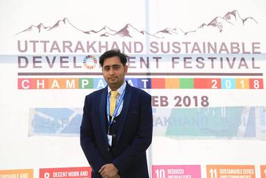 Mr. Abhishek Kumar Pathak of Uttaranchal Institute of Management awarded 'Uttarakhand Change Maker Award'