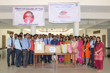"""GLOBE Club of Uttaranchal Institute of Management conducts the fourth phase of its social activity """"Ek Kapda Daan"""""""
