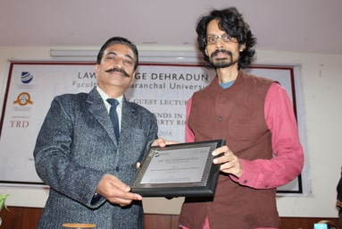 "Law College Dehradun organizes a 'Guest Lecture' on ""Emerging Trends in Intellectual Property Rights"""