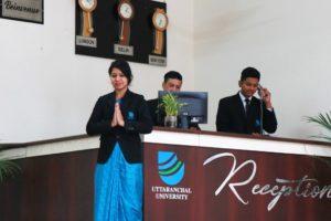 Uttaranchal University Front Office Lab