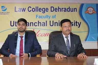 Law College Dehradun felicitates Mukul Rawat for securing 6th Rank in JAG (Judge Advocate General , Indian Army)