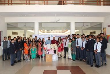 "Globe Club of Uttaranchal Institute of Management conducts ""Ek Kapda Daan"""