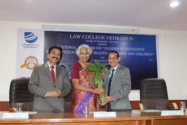 """Law College Dehradun organizes a National Seminar on """"Gender Sensitization with reference to the Rights of Women and Children"""""""