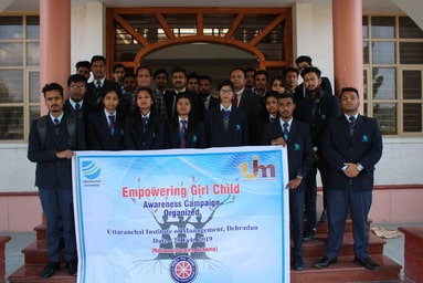 Uttaranchal Institute of Management organizes an Awareness Campaign on 'Empowering Girl Child'