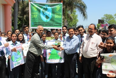 """Uttaranchal College of Agricultural Sciences conducts an 'Awareness Campaign' in observance of """"Earth Day"""""""
