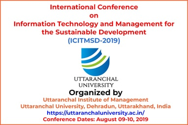 International Conference on Information Technology and Management for the Sustainable Development