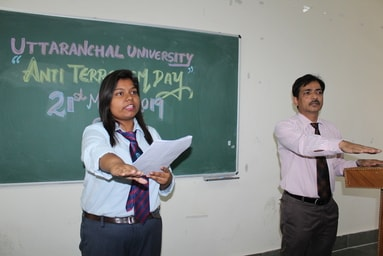 "Uttaranchal University observes ""Anti-Terrorism Day"""