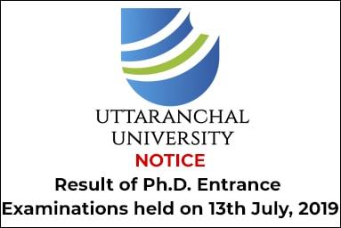 Ph.D Result July 2019