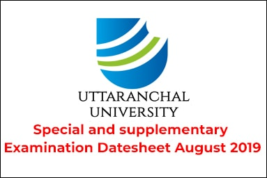 Special and supplementary Examination Datesheet August 2019