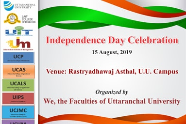 Independence Day Celebration 15 August, 2019