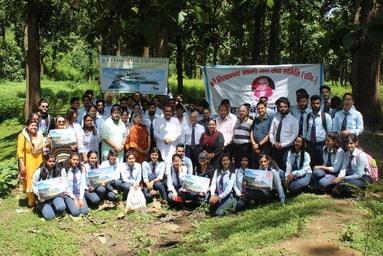 GLOBE CLUB of Uttaranchal Institute of Management conducts 'Tree Plantation Activity'