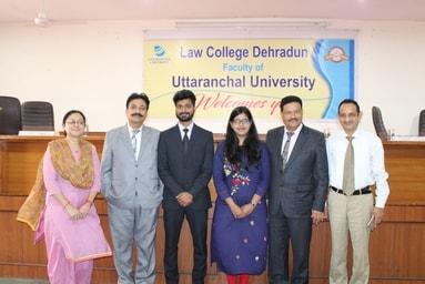 Law College Dehradun felicitates Ms. Surbhi Singhania & Mr. Shubham for being selected as U.P. Civil Judge Junior Division