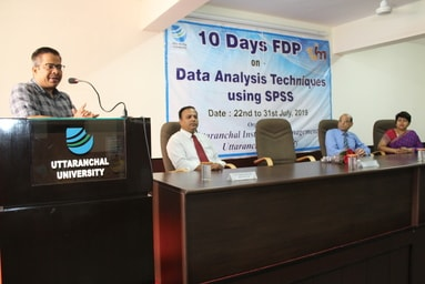 Uttaranchal Institute of Management conducts the Valedictory Session of the 10-Day Faculty Development Programme on 'Data Analysis Techniques Using SPSS'