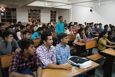 Mr. Manohar Singh, alumnus of UIT, interacts with First Year Students