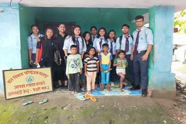 School of Applied and Life Sciences organizes a visit to 'Aanganwadi'