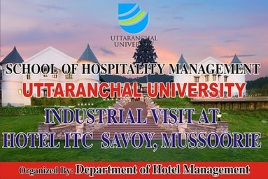 "School of Hospitality Management organizes an Industrial Visit to ITC Welcome Hotel ""The Savoy"""