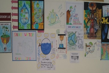 "School of Agriculture organizes a 'Poster Making Competition' on the theme of ""Jal Sanchay"""