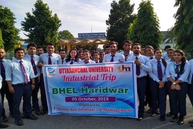 Uttaranchal Institute of Management organizes an Industrial Visit to BHEL, Haridwar