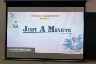 Cultural Club of Uttaranchal Institute of Technology organizes 'Just a Minute'