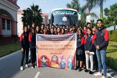 School of Media and Communication Studies organizes an Industrial Visit to 'Soham Heritage and Cultural Centre'