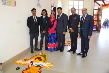 Women Cell of UIM: Rangoli Competition