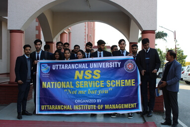 Uttaranchal Institute of Management conducts Cleanliness Campaign