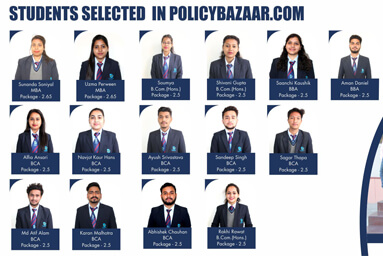 Students Selected In Policybazaar.com