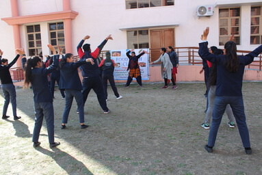 School of Applied and Life Sciences organizes an Aerobics Workout Session under 'Fit India Movement'