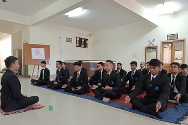 School of Hospitality Management conducts a Meditation Session under 'Fit India Campaign'