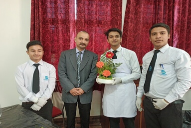 School of Hospitality Management conducts a Workshop on Flower Arrangement