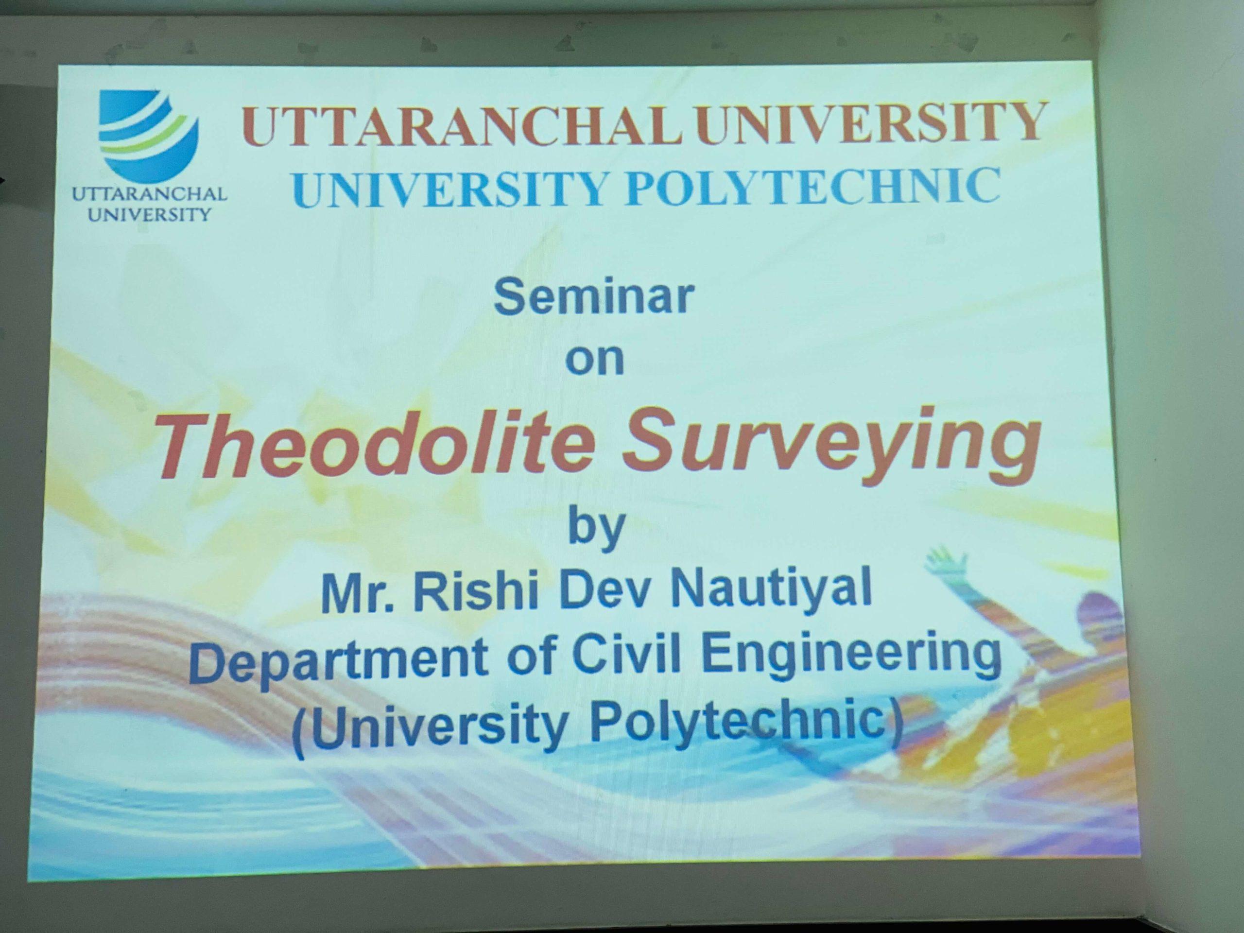 University Polytechnic organizes a Seminar on 'Theodolite Surveying'