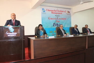 Uttaranchal Institute of Management conducts a Guest Lecture on Ethics
