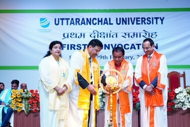 Grand Celebration of First Convocation Ceremony at Uttaranchal University 59 Gold Medals, 16 Doctorate (Ph.D.) and 2668 received Degrees.