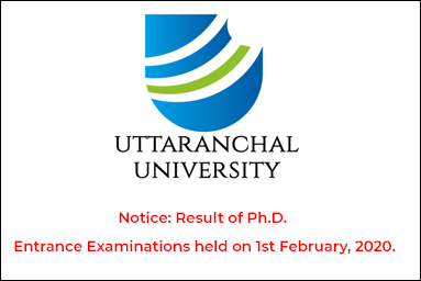 Notice: Result of Ph.D. Entrance Examinations held on 1st February, 2020.