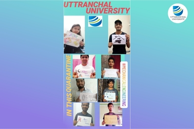 II Year Mechanical Engineering students of Uttaranchal University conduct an Awareness Campaign on 'Corona Virus' while staying at home