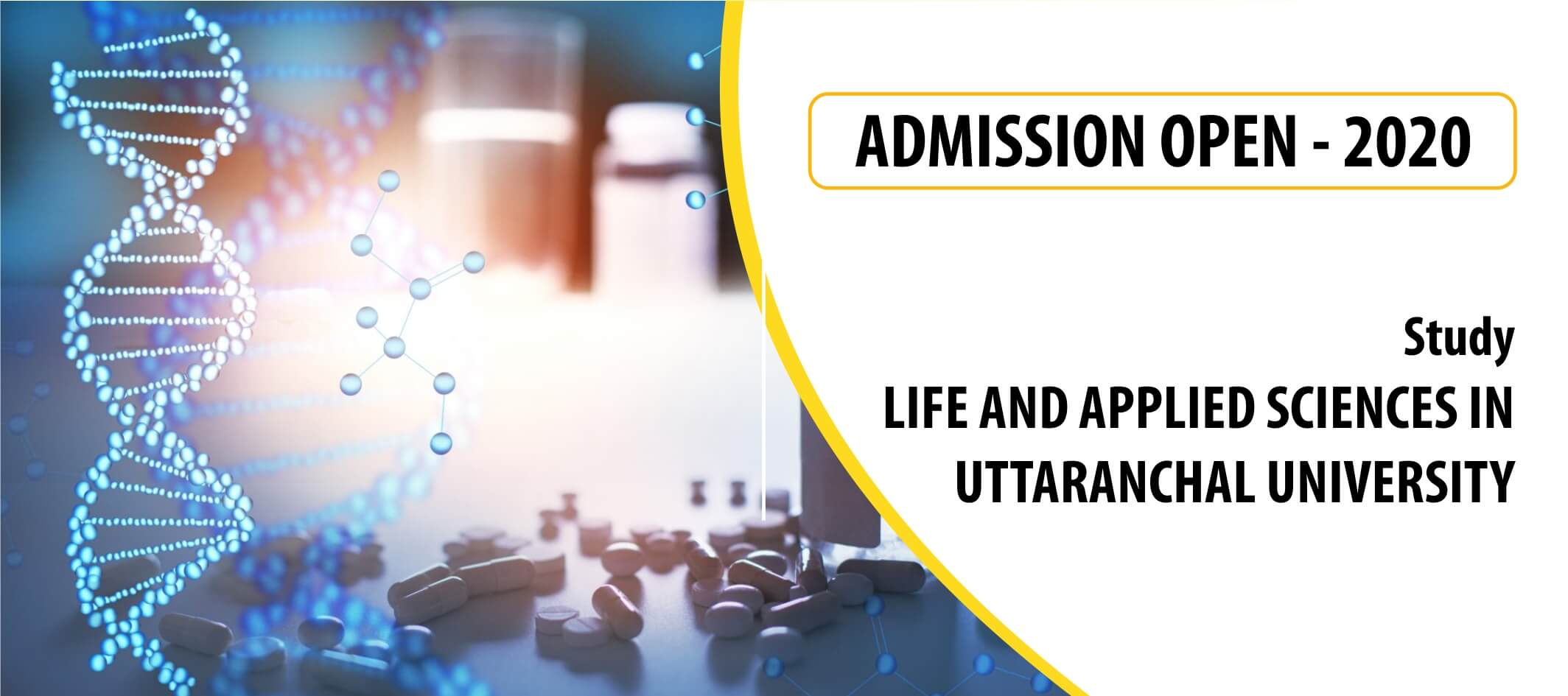 SLIDER DESIGN ADMISSION OPEN LIFE AND APPLIED SCIENCES