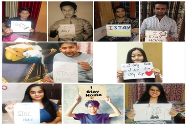 """School of Hospitality Management conducts """"I Stay Home"""" Campaign"""