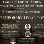 "1st National Online Lecture Series On ""Contemporary Legal Topics"""