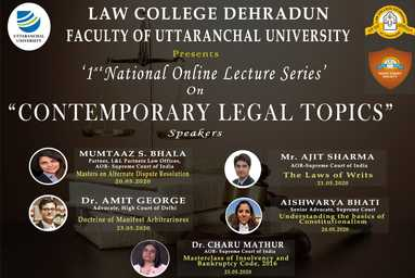 """1st National Online Lecture Series On """"Contemporary Legal Topics"""""""
