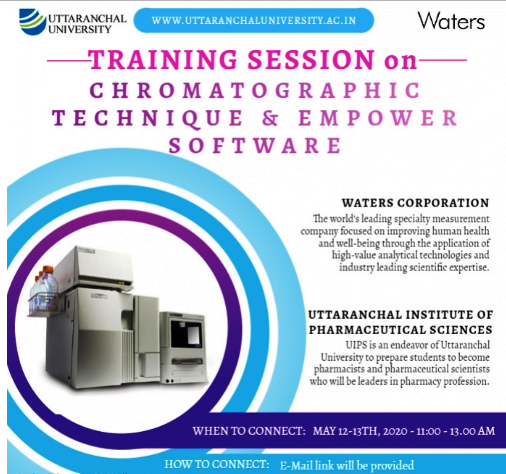 Training Session on Chromatographic Technique & Empower Software May 12-13th 2020 11:00-13:00 AM