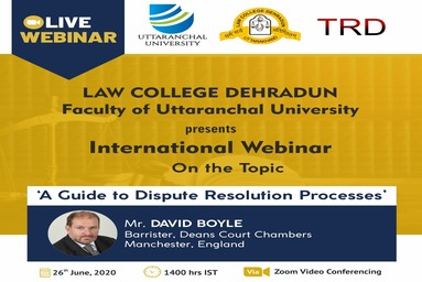 Law College Dehradun organizes an International Webinar on