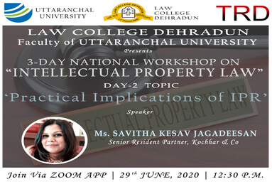Law College Dehradun organizes a three-day National Workshop on 'Intellectual Property Rights'