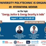 "International Webinar on ""ENERGY JUSTICE & ENERGY SECURITY IN INDIA"" (August 07, 2020)"