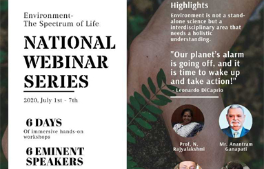 "Law College Dehradun organizes a National Webinar Series on ""Environment - The Spectrum of Life"""