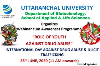 SALS-Webinar cum Awareness Programme-Role of Youth against Drug Abuse