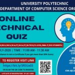 """""""ONLINE TECHNICAL QUIZ"""" is being conducted for the CSE/IT/DIPLOMA/B.TECH/BCA/MCA/M.TECH/B.Sc(IT)/M.Sc(IT)/MBA-IT/O-LEVEL/ECE STUDENTS."""