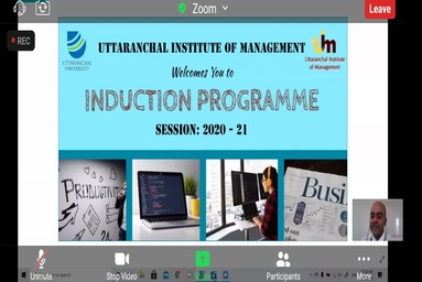 Induction Programme At Uttaranchal Institute Of Management