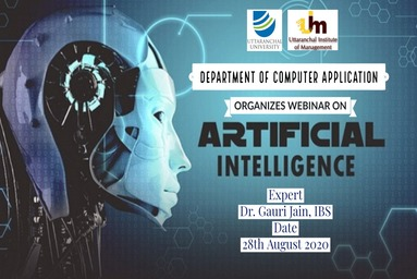 Webinar On 'artificial Intelligence' Uttaranchal Institute Of Management