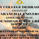 "International Webinar series – ""Terra Firma:  The verses of Earth are never dull"""